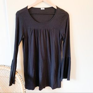 Splendid Black Bell Sleeve Top